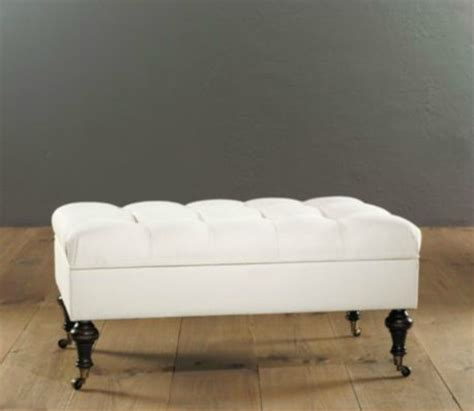 bedroom ottoman storage castered tufted storage ottoman contemporary