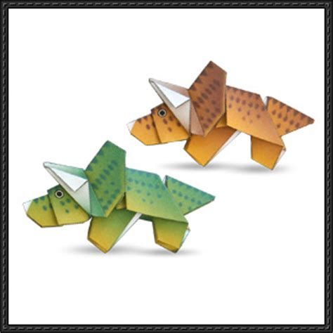 canon paper crafts canon papercraft triceratop dinosaur origami free