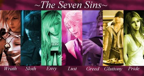 the seven sins the seven sins of 13 by tailep on deviantart