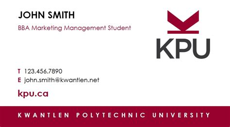 how to make a student business card print shop services kpu ca kwantlen polytechnic