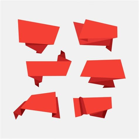origami banner vector decorative origami banners vector free