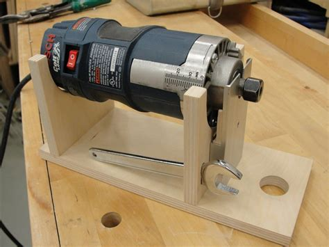 router woodworking projects router cradle bit changes made easy by td69mustang
