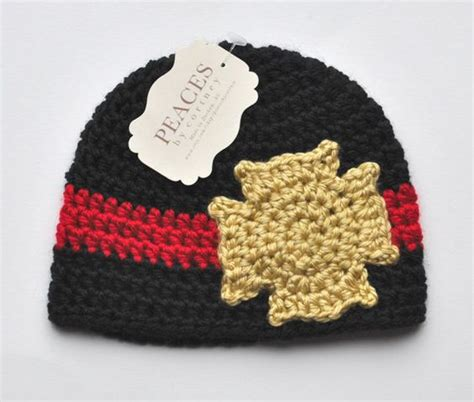 knitted fireman hat pattern baby beanies crochet baby and firefighters on