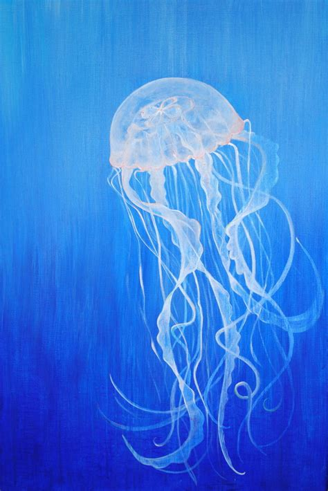 acrylic paint jellyfish of the jellyfish by xforgetmenotx on deviantart