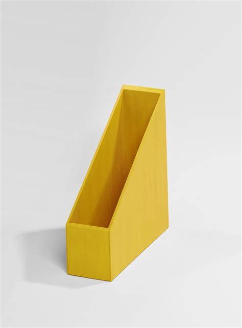 boite de rangement jaune pour dossier kollori