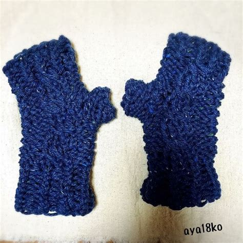 loom knit mittens loom knitted cabled fingerless mittens by aya18ko