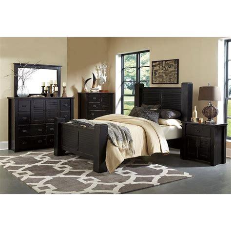 cal king bedroom furniture set trestlewood black 6 cal king bedroom set