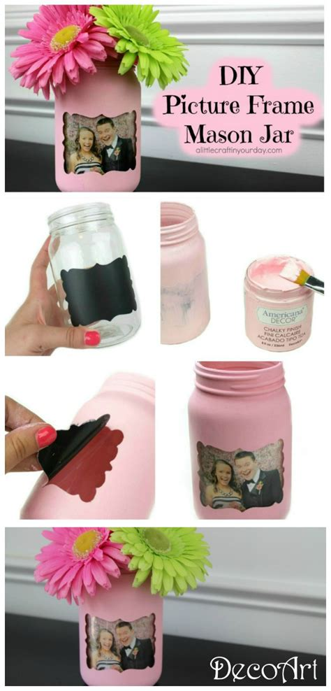 diy picture frame jar a craft in your day