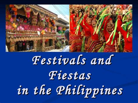 in philippines festivals and fiestas in the philippines