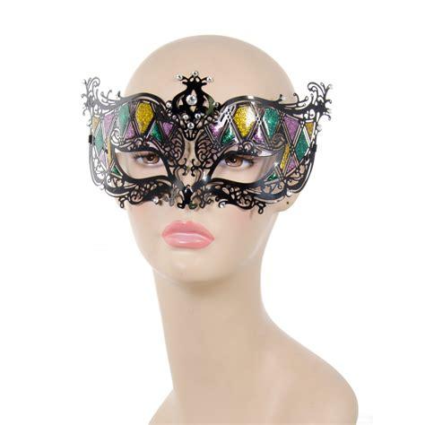 black mardi gras glitter mardi gras metal filigree mask black 26603mgaj