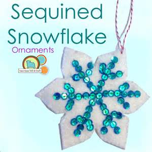 free ornament craft patterns sequin snowflakes felt ornament pattern