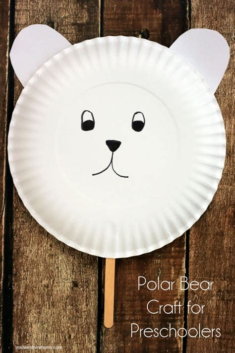 paper plate polar craft polar craft for preschoolers midwestern