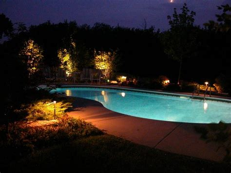 landscape lighting around pool outdoor lighting company of san diego nitelites glows at the 21st annual home garden show