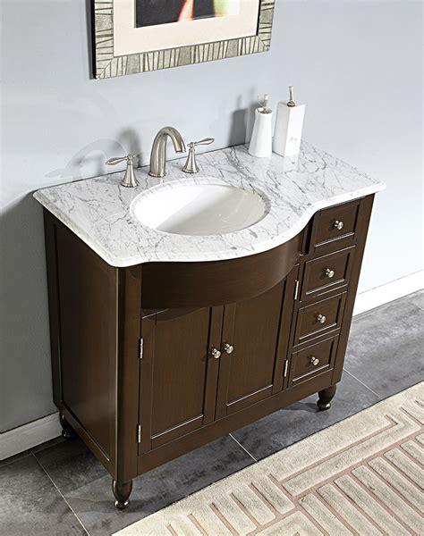 center sink bathroom vanity 38 quot 0902wm white marble top bathroom sink vanity