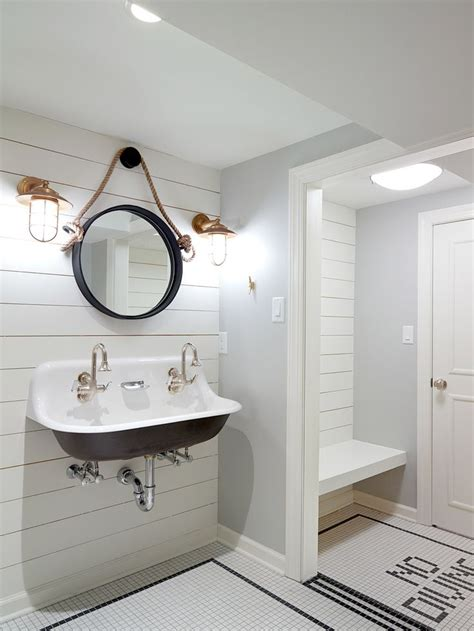 pool bathroom ideas nautical changing room for pool house with white ship