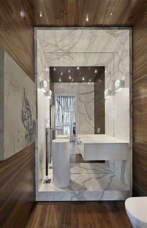 bath canada large mirror modern sink bathroom yorkville penthouse