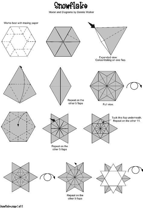 simple origami snowflake origami le de manouchka