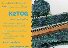 k2tog knitting loom knitting on loom knit loom knitting