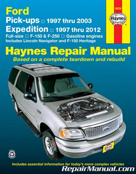 free car repair manuals 2003 ford expedition electronic throttle control haynes ford pickup 1997 2003 expedition lincoln navigator 1997 2012 repair manual