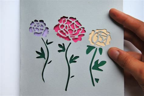 paper cutting flowers crafts make stunning papercut wedding invitations
