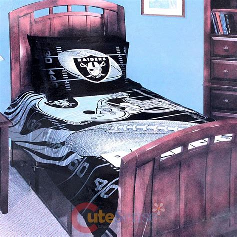 raiders comforter set nfl oakland raiders bedding comforter set 3pc with