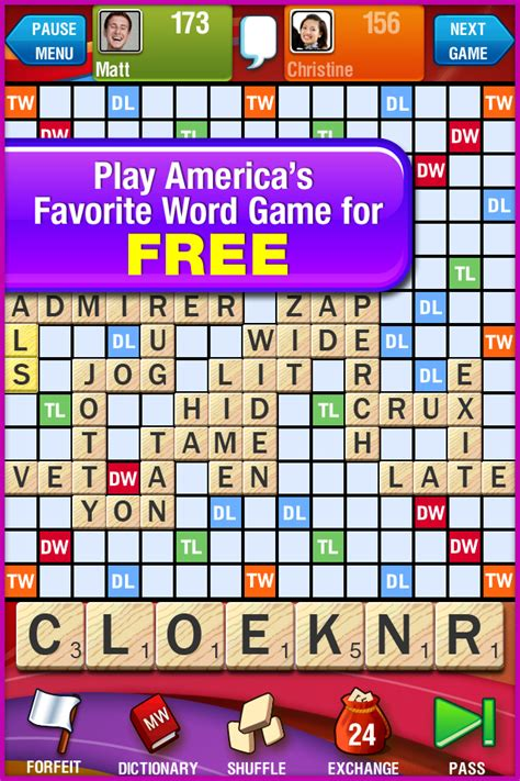 play scrabble with friends scrabble free ios