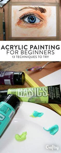 acrylic painting hacks best 25 acrylic painting lessons ideas on