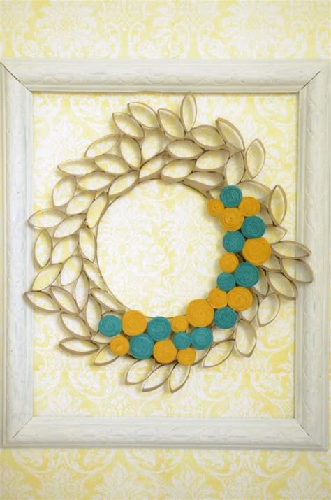 toilet paper roll wreath craft 14 toilet paper roll crafts a craft in your daya