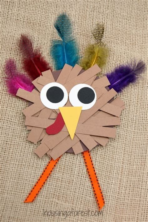crafts using paper strips paper turkey craft housing a forest