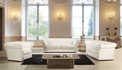 tufted leather sofa set ivory tufted leather sofa set