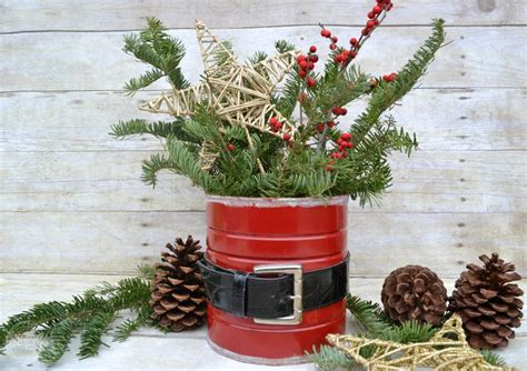 coffee can crafts upcycled santa coffee can craft refresh living