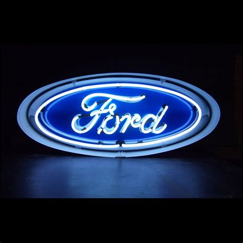 Ford Sign by Ford Oval Neon Sign