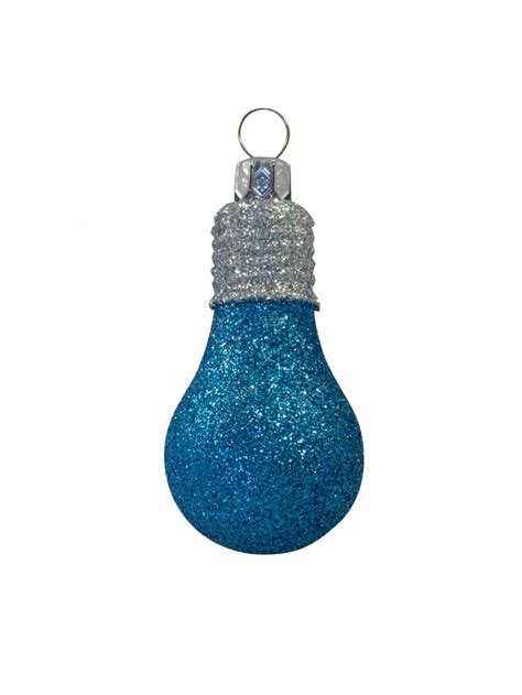 turquoise baubles glittered turquoise silver light bulb baubles 4 x 70mm