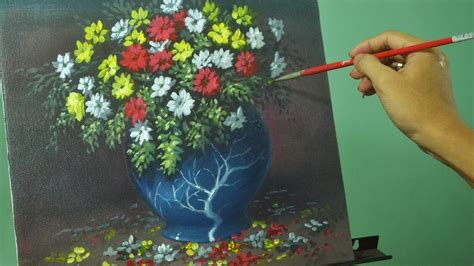 painting lessons flowers acrylic painting lesson flowers in the vase by jm