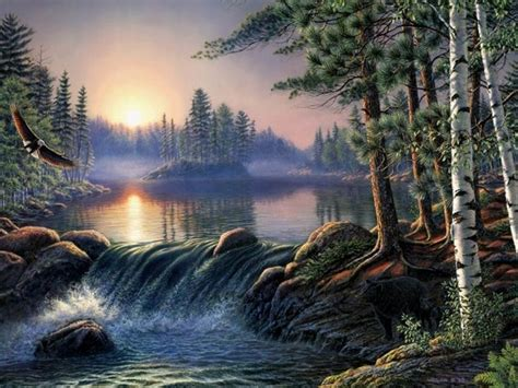 bob ross painting wolf most beautiful waterfalls painting in oils photography
