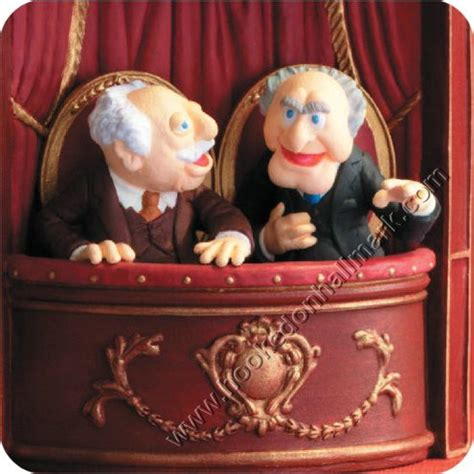 muppets ornaments 2008 statler and waldorf muppet show hallmark ornament at