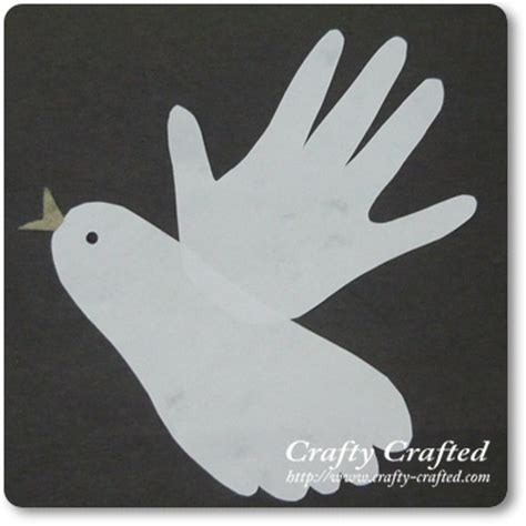 dove crafts for handprint footprint dove