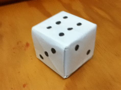 origami dice how to make an origami loaded dice paper dice step by