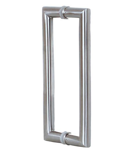 handles for glass doors 2 foot contemporary glass door handles pair satin