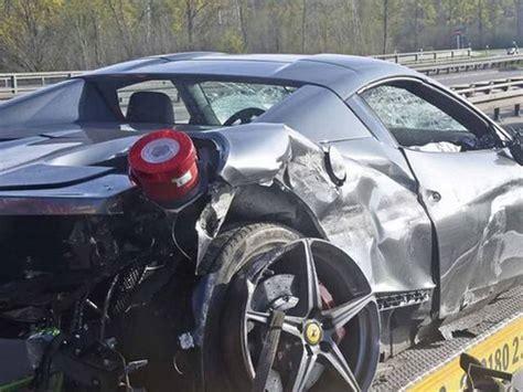 accident recorder 2007 ferrari f430 engine control ferrari 458 spider crashes into guardrail in munich gtspirit