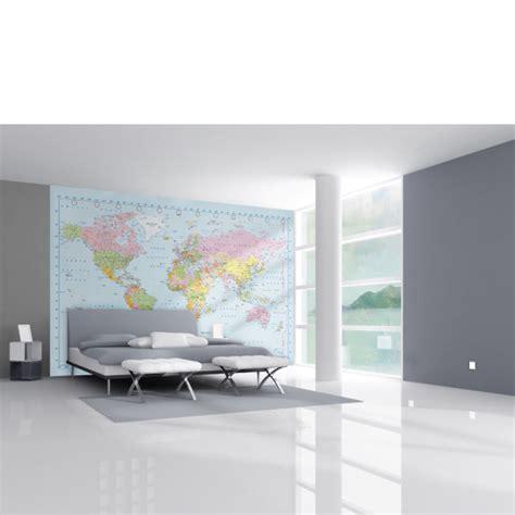 digital wall murals world map in stunning digital colour wall mural homeware