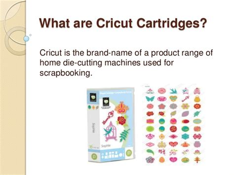 what are cricut cartridges