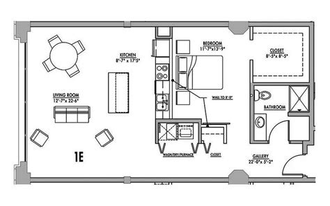 loft floor plans floor plan 1e junior house lofts