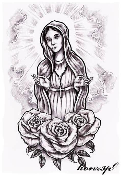 13 virgin mary tattoo designs