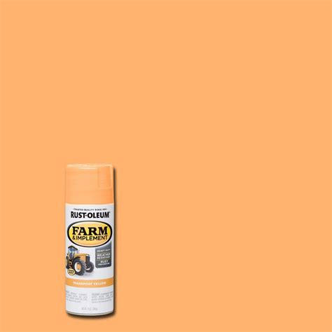 home depot spray paint yellow rust oleum 12 oz farm and implement transport yellow