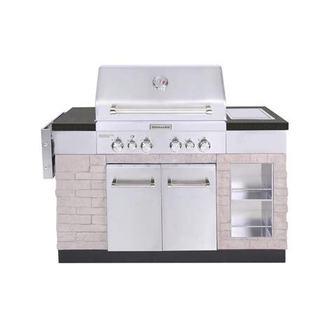 kitchen island grill kitchenaid 4 burner propane gas island grill in stainless