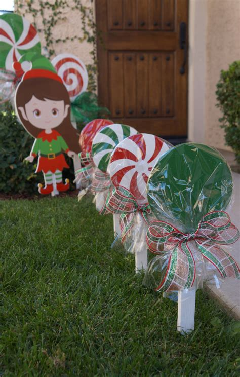 diy outdoor wooden decorations wooden lollipops for yard decorations by