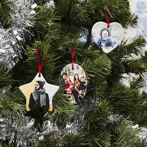 tree decorations personalised personalised photo tree decorations ceramic