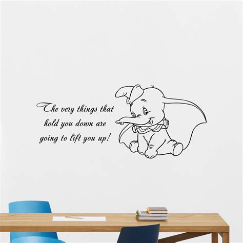 disney nursery wall decals dumbo quotes wall decal disney elephant vinyl sticker