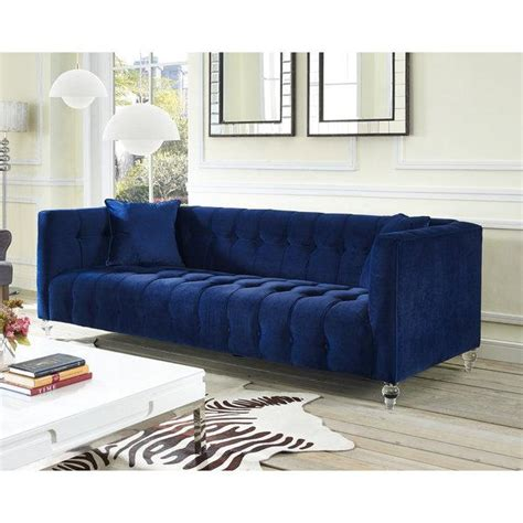 navy tufted sofa navy blue velvet tufted bottom sofa